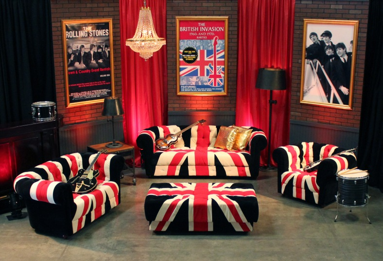 Union Jack Lounge Furniture - Town & Country Event Rentals