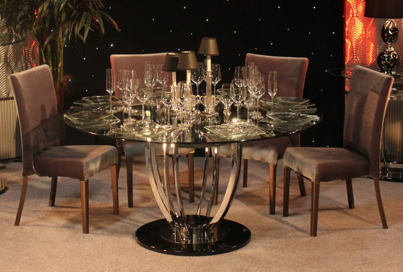 Art Deco Moderne Dining Table - Town & Country Event Rentals