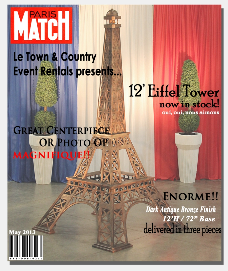 Eiffel Tower - Town and Country Event Rentals