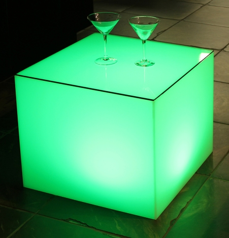 Translucent Cube Table - Town and Country Event Rentals