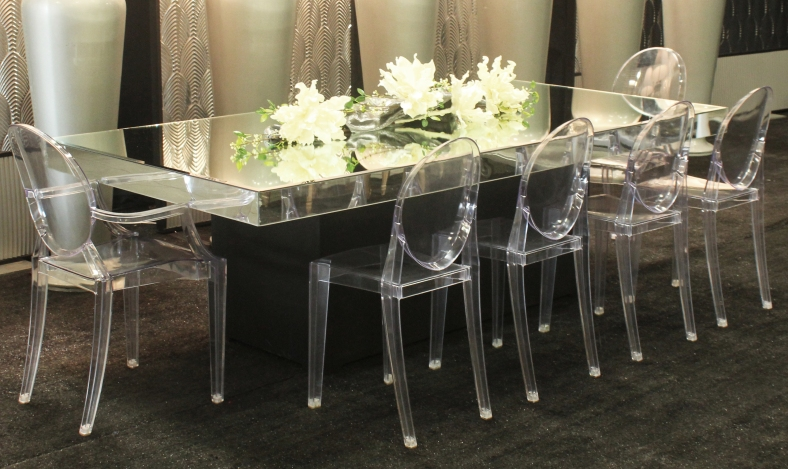 4x8 mirror glass table